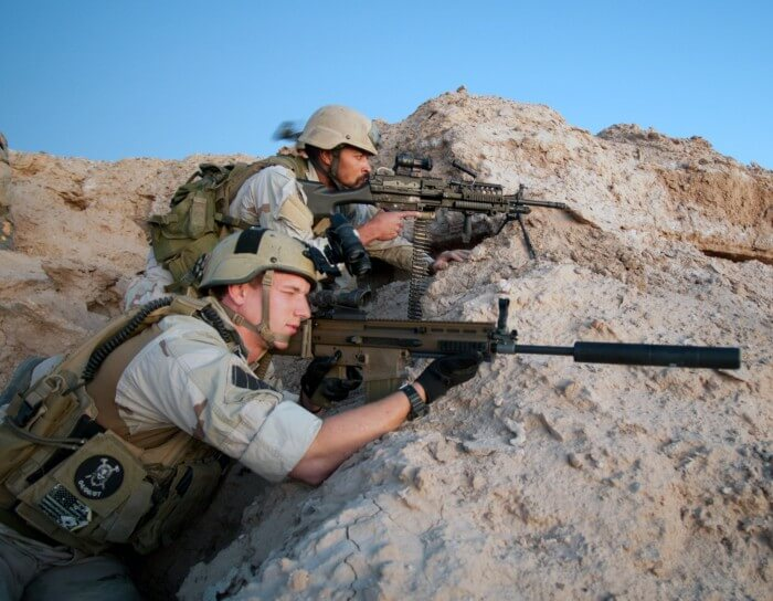 Navy SEAL wearing a G-Shock watch during tactical training
