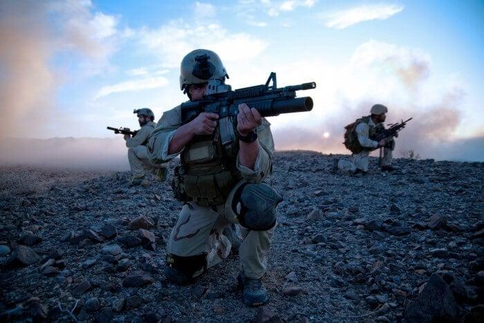 Navy SEALs in the field wearing G-Shocks