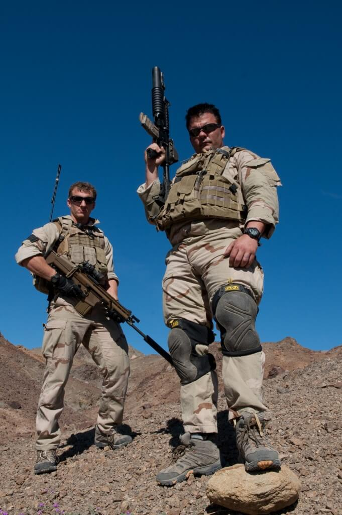 Navy SEALs in the field wearing G-Shocks